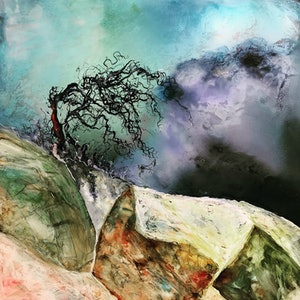 (CreativeWork) Trees by Meg Lewer. other-media. Shop online at Bluethumb.