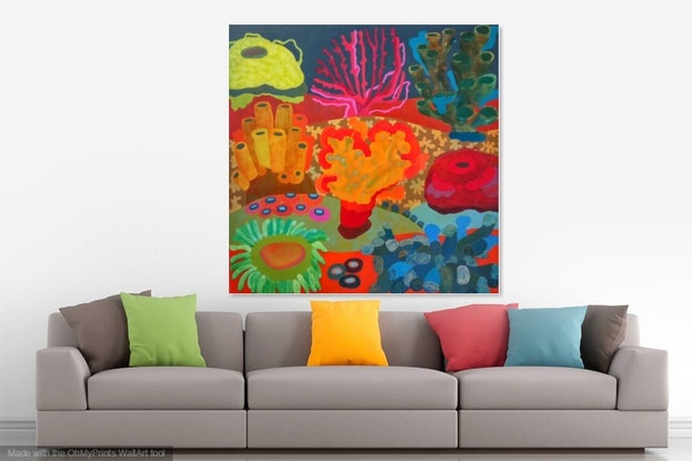 (CreativeWork) Sea Garden by Linda Lee. #<Filter:0x000055be23747610>. Shop online at Bluethumb.