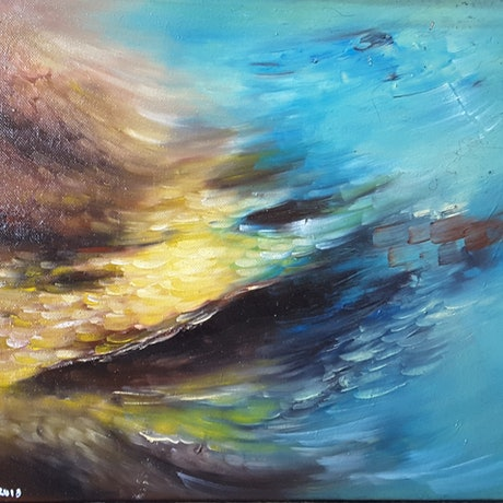 (CreativeWork) Carried On Currents  by Scott Maxwell. Oil Paint. Shop online at Bluethumb.