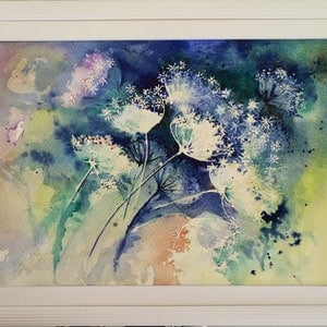 (CreativeWork) Garden Lace by Lucinda Leveille. watercolour. Shop online at Bluethumb.