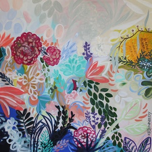(CreativeWork) Blossom by Kate Kennedy. arcylic-painting. Shop online at Bluethumb.