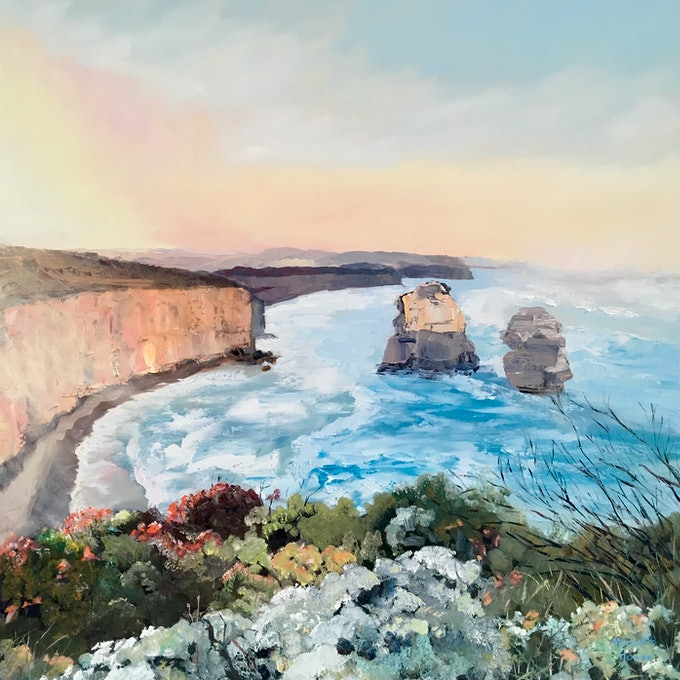 (CreativeWork) Pure Australia 4 by Meredith Howse. oil-painting. Shop online at Bluethumb.