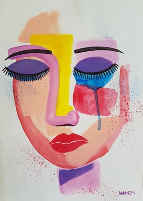 (CreativeWork) Minimal expression study II by Amani Haydar. Mixed Media. Shop online at Bluethumb.