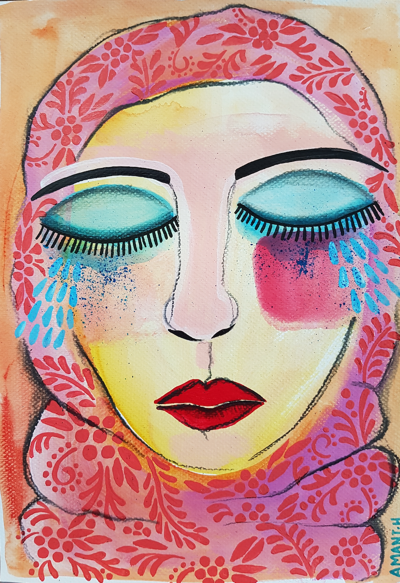 (CreativeWork) Unshaken by Amani Haydar. mixed-media. Shop online at Bluethumb.