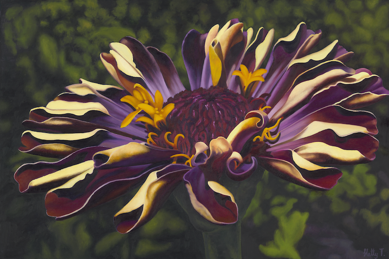 (CreativeWork) Moonlight Zinnia - A2 Limited Edition print Ed. 1 of 30 by Hetty Thompson. print. Shop online at Bluethumb.
