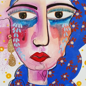 (CreativeWork) Without a doubt I by Amani Haydar. mixed-media. Shop online at Bluethumb.