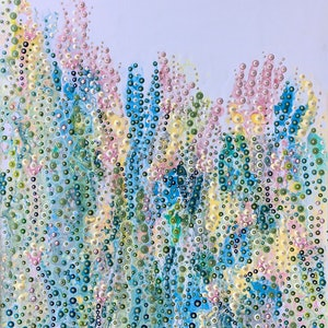 (CreativeWork) Pastel Profusion by Hilary Graham. arcylic-painting. Shop online at Bluethumb.