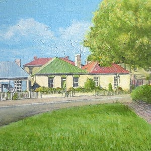 (CreativeWork) Arthur Circus Facing South by Michael Bessell. oil-painting. Shop online at Bluethumb.