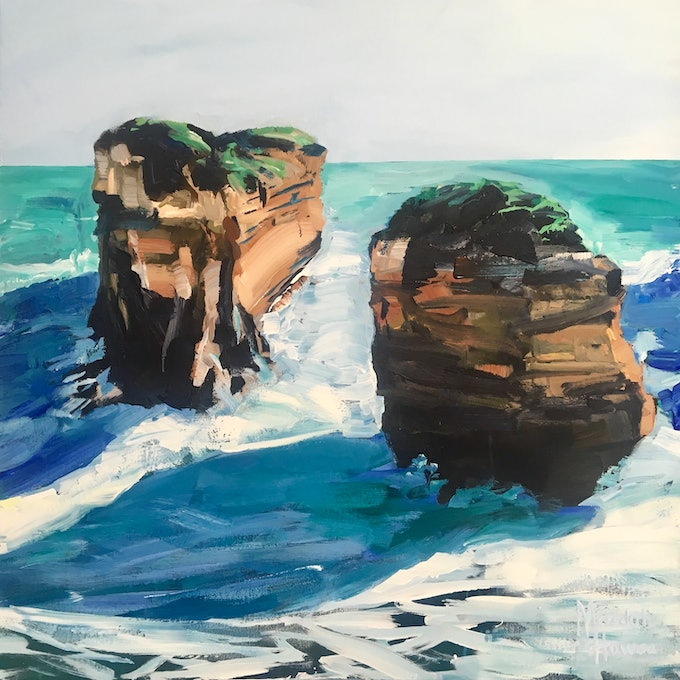 (CreativeWork)  Pure Australia 8 by Meredith Howse. acrylic-painting. Shop online at Bluethumb.