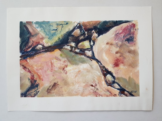 (CreativeWork) FISSURE by Suzy Strout. Mixed Media. Shop online at Bluethumb.