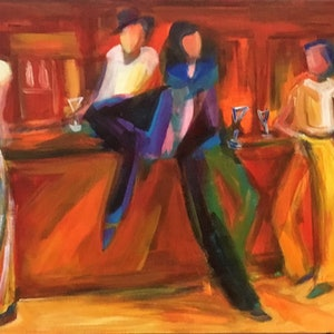 "(CreativeWork)                  ""  Cheers"" by angela mulligan. arcylic-painting. Shop online at Bluethumb."