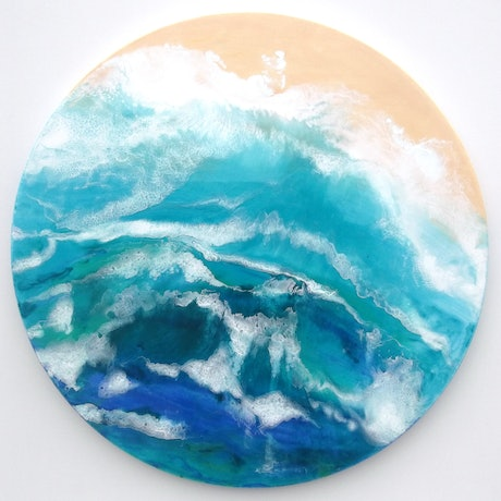 (CreativeWork) PACIFIC POWER by Caz Brown. Resin. Shop online at Bluethumb.