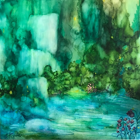 (CreativeWork) Cascade by Christine Hyde. Other Media. Shop online at Bluethumb.