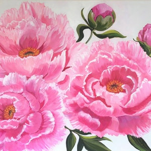 (CreativeWork) Pink Perfection 2 by Claire Donaghy. arcylic-painting. Shop online at Bluethumb.