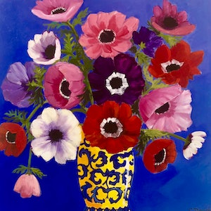 (CreativeWork) Oriental Vase by Claire Donaghy. arcylic-painting. Shop online at Bluethumb.