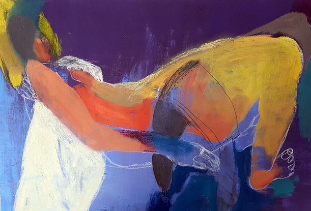 (CreativeWork) Sleeping Girl by Elizabeth Wojciak. Acrylic Paint. Shop online at Bluethumb.