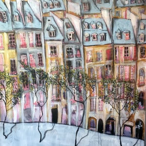 (CreativeWork) View from Pompidou (Version 2) by Jade Thompson. mixed-media. Shop online at Bluethumb.