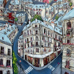 (CreativeWork) 'Montmartre' by Jade Thompson. mixed-media. Shop online at Bluethumb.