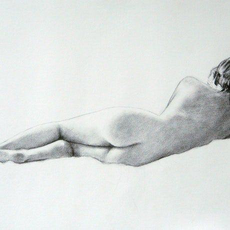 (CreativeWork) Sleeping Nude by Craig Taylor. Drawings. Shop online at Bluethumb.