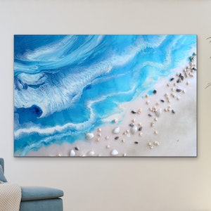 (CreativeWork) Bali Utopia 3 Ocean Artwork. CANVAS Limited Edition Print | Antuanelle Ed. 1 of 25 by MARIE ANTUANELLE. print. Shop online at Bluethumb.