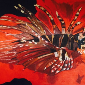(CreativeWork) TIGER FISH by Pamela Baker. oil-painting. Shop online at Bluethumb.