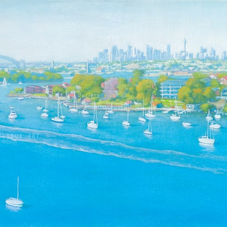 (CreativeWork) Welcome to Sydney! by Michelle Angelique. Acrylic Paint. Shop online at Bluethumb.