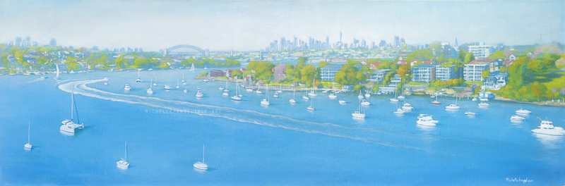 (CreativeWork) Welcome to Sydney! by Michelle Angelique. arcylic-painting. Shop online at Bluethumb.