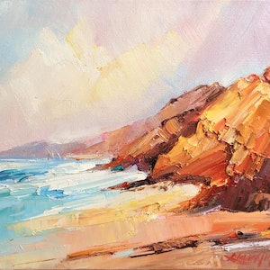 (CreativeWork) Cape Leveque Coastline #4 by Liliana Gigovic. oil-painting. Shop online at Bluethumb.