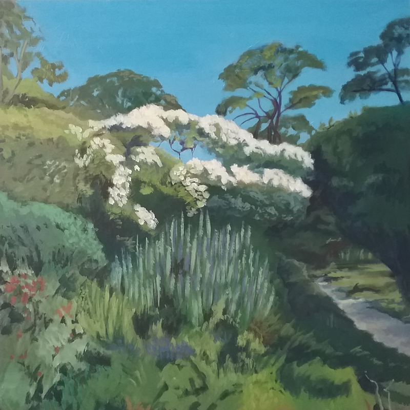 (CreativeWork) Eurumbeen  Garden by Dawn Lim. arcylic-painting. Shop online at Bluethumb.