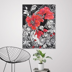 (CreativeWork) Rose Tattoo - Limited Edition Giclee Print -Signed and numbered 3/250 by Tania Daymond. drawing. Shop online at Bluethumb.