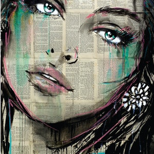 (CreativeWork) SENORITA by loui jover. drawing. Shop online at Bluethumb.
