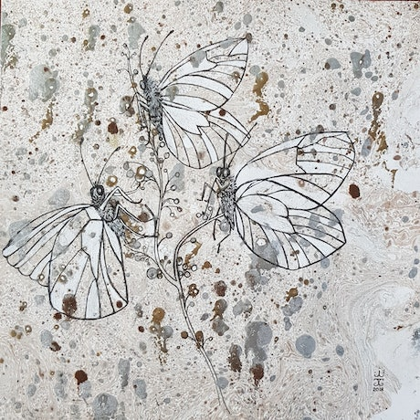 (CreativeWork) Just Like A Butterfly by Jeanette Giroud. Mixed Media. Shop online at Bluethumb.