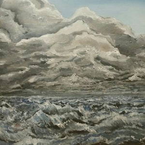 (CreativeWork) Drift by Tim Nash. oil-painting. Shop online at Bluethumb.