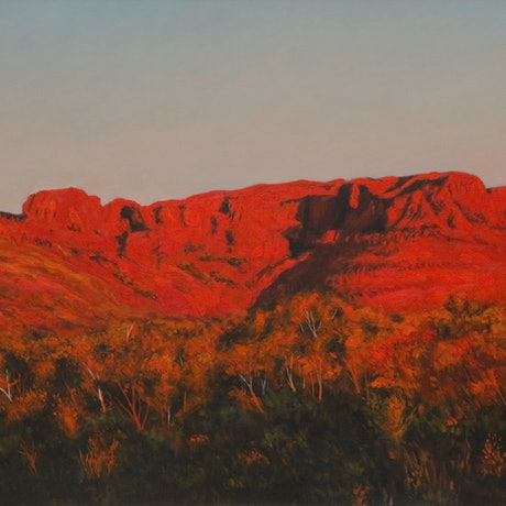 (CreativeWork) Kings Canyon by Craig Taylor. Oil Paint. Shop online at Bluethumb.