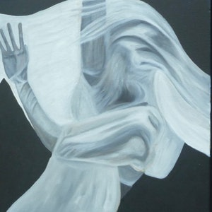 (CreativeWork) Dance your heart out by Tom Koch. oil-painting. Shop online at Bluethumb.