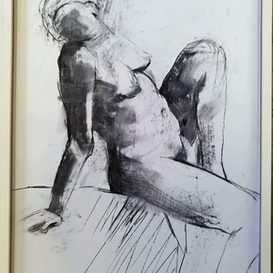 (CreativeWork) Nude Study by Elizabeth Wojciak. drawing. Shop online at Bluethumb.