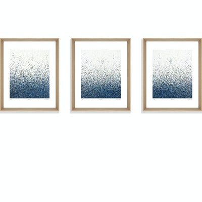 (CreativeWork) Silent Seas      series of 3 framed limited edition prints Ed. 5 of 75 by George Hall. print. Shop online at Bluethumb.