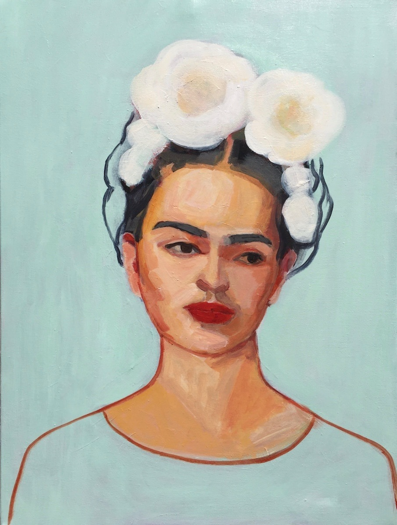 (CreativeWork) FRIDA AND MAGNOLIAS by Elizabeth Braun. arcylic-painting. Shop online at Bluethumb.