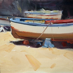 (CreativeWork) Three Boats Ed. 1 of 100 by Claire McCall. print. Shop online at Bluethumb.