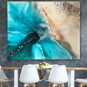 (CreativeWork) Rise Above Ocean Seascape. CANVAS Limited Edition Print | Antuanelle Ed. 1 of 25 by MARIE ANTUANELLE. print. Shop online at Bluethumb.