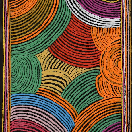 (CreativeWork) Winboll Rock Hole by Rosie Lane. Acrylic Paint. Shop online at Bluethumb.