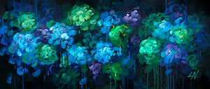 (CreativeWork) MIDNIGHT SONG by Lily Nova. arcylic-painting. Shop online at Bluethumb.