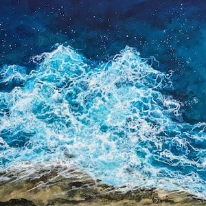 (CreativeWork) PACIFIC WATERS by Vanessa Mae. arcylic-painting. Shop online at Bluethumb.