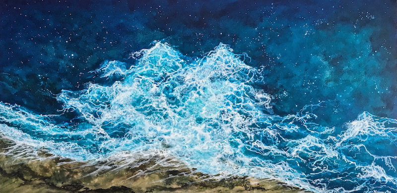 (CreativeWork) PACIFIC WATERS by Vanessa Mae. acrylic-painting. Shop online at Bluethumb.