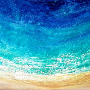 (CreativeWork) TURQUOISE ESCAPE by Basia Kilian. acrylic-painting. Shop online at Bluethumb.