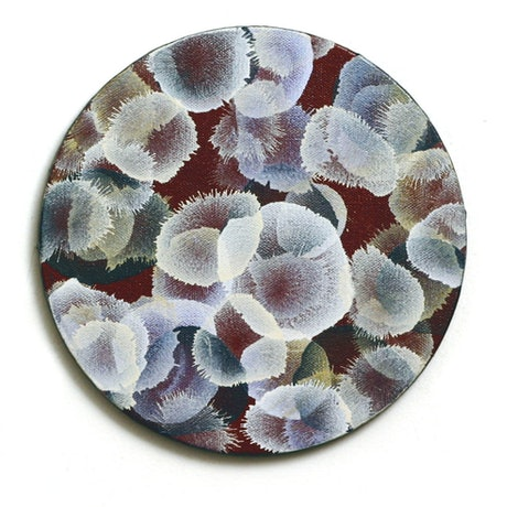 (CreativeWork) Cluster Sphere I - round canvas by Jacquelyn Stephens. Acrylic Paint. Shop online at Bluethumb.