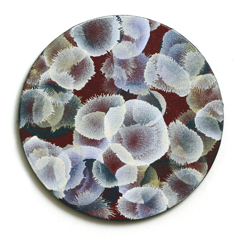 (CreativeWork) Cluster Sphere I - round canvas by Jacquelyn Stephens. #<Filter:0x000055c87bec9a98>. Shop online at Bluethumb.
