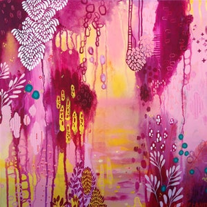 (CreativeWork) Bloom by Leah Doeland. arcylic-painting. Shop online at Bluethumb.