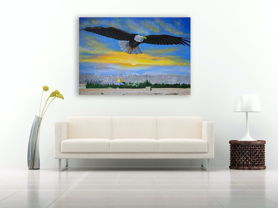 (CreativeWork) On Eagles Wings by Tania Weekes. Acrylic Paint. Shop online at Bluethumb.
