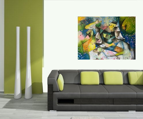 (CreativeWork) Exciting Journey by Tania Weekes. Oil Paint. Shop online at Bluethumb.